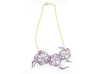 Aster Necklace 3d printed Custom Dyed Colors (Wisteria)