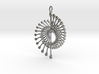 Peacock Pendant 7.7cm from Spinnoloids range 3d printed