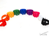 Curl ring 4 parallel lines 3d printed All colours
