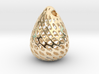 Big Patterned Egg Pendant - Metallic Material 3d printed