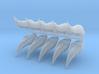 Space Elf - Eldar - Wraith Helm -Half gems x10 3d printed