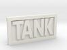 TANK belt buckle 3d printed
