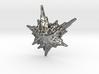 3D Fractal Snowflake Pendant 3d printed