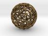 Industrial Geo Bucky-2-Asmb 3d printed Raw Bronze
