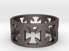 Outlaw Biker Cross Ring Size 10 3d printed
