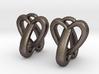 Interlocked Heart Earrings 3d printed