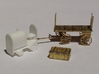 Baggage Cart Tractor N Scale 3d printed Tractor with Micron Art baggage cart and trunk