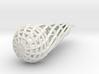 twisted lattice teardrop earring 1 3d printed