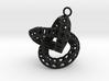 perforate torus earring 1 3d printed