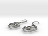 Spine Earrings 3d printed