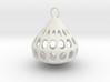 holey plum earring 2 3d printed
