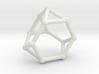 Truncated tetrahedron 3d printed