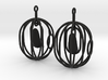Happy Bird earrings 3d printed