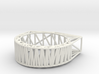 Structural Chipped Block Ring 3d printed