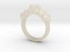 Neocube flower ring 16 3d printed