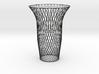 Vase double swirl 3d printed