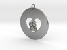My Heart is in Your Heart Pendant 3d printed