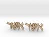 "Hebrew Name Cufflinks - ""Asher"" 3d printed"