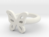 Megan Allen Butterfly Ring 3d printed