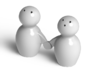 Q-T Salt And Pepper Shakers 3d printed Q-T Salt and Pepper Shakers