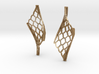 Twisted lattice girder earrings 3d printed