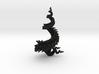 3D fractal model: Spiralling spirals 7cm x 14cm 3d printed