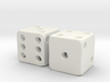 Barebones Pair of Dice 3d printed