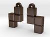 Video Game block earrings 3d printed