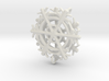 Snowflake Earrings 3d printed