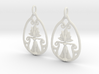 Art Nouveau Goddess of Progress Earrings 3d printed