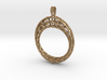 Piped Mobius Band Wireframe Pendant with Bail 3d printed