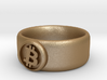 Bitcoin Ring (BTC) - Size 8.5 (U.S. 18.54mm dia) 3d printed