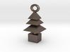 3d Xmas Tree Tree Bracelet Charm silver coloured 3d printed