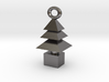 3d  Xmas Tree Tree Bracelet Charm silver coloured 3d printed