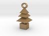 3d  Xmas Tree Tree Bracelet Charm gold coloured 3d printed