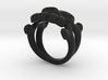 Skull & Crossbones Ring (L)  3d printed