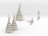 Xmas Swirl Tree Jewelry Set 3d printed