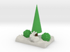 Xmas  Tree An Bushes In Snow With Bunny 3d printed