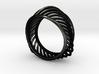 Triangular Rail Arcs Ring - Size 6.75 3d printed