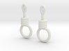 Noose Earrings 3d printed