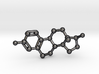 Estrogen (female sex hormone) Molecule Necklace 3d printed