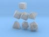 Floating Face set (1.5mm edge) 3d printed