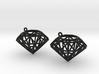 Rock Star Diamond Earrings 3d printed