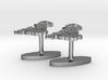 UK Terrain Cufflink Pair - Flat 3d printed