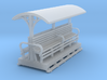 OO9 Small longitudinal seat open coach  3d printed