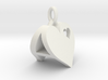 Heart Pendant Letter Big A 3d printed