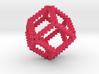 Curly Rhombic Dodecahedron 3d printed