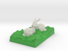 Two Bunnies Looking At Each Other 3d printed