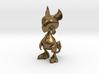 Baby Gryphon figurine 60mm 3d printed Raw Bronze Render