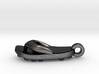 Soccer / football flipflop pendant 3d printed flipflop sandalPolished Grey Steel